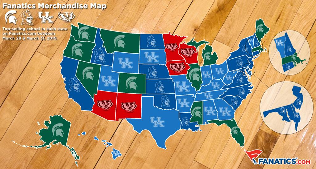Final Four Sales By State