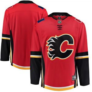 80ac4933d The Calgary Flames jersey for next season will feature tied-down laces  below the collar (which now has more red and less black).