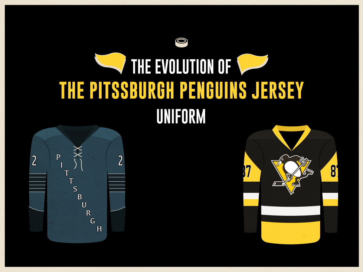 brand new 9d3c2 62bac The Evolution of the Pittsburgh Penguins Jersey