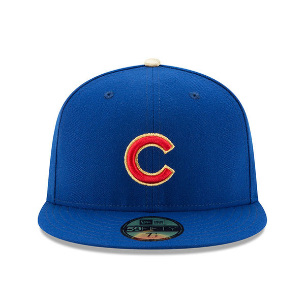 Chicago Cubs New Era 2017 Gold Program World Series Champions Commemorative  59FIFTY Fitted Hat – Royal 0f0632526ac