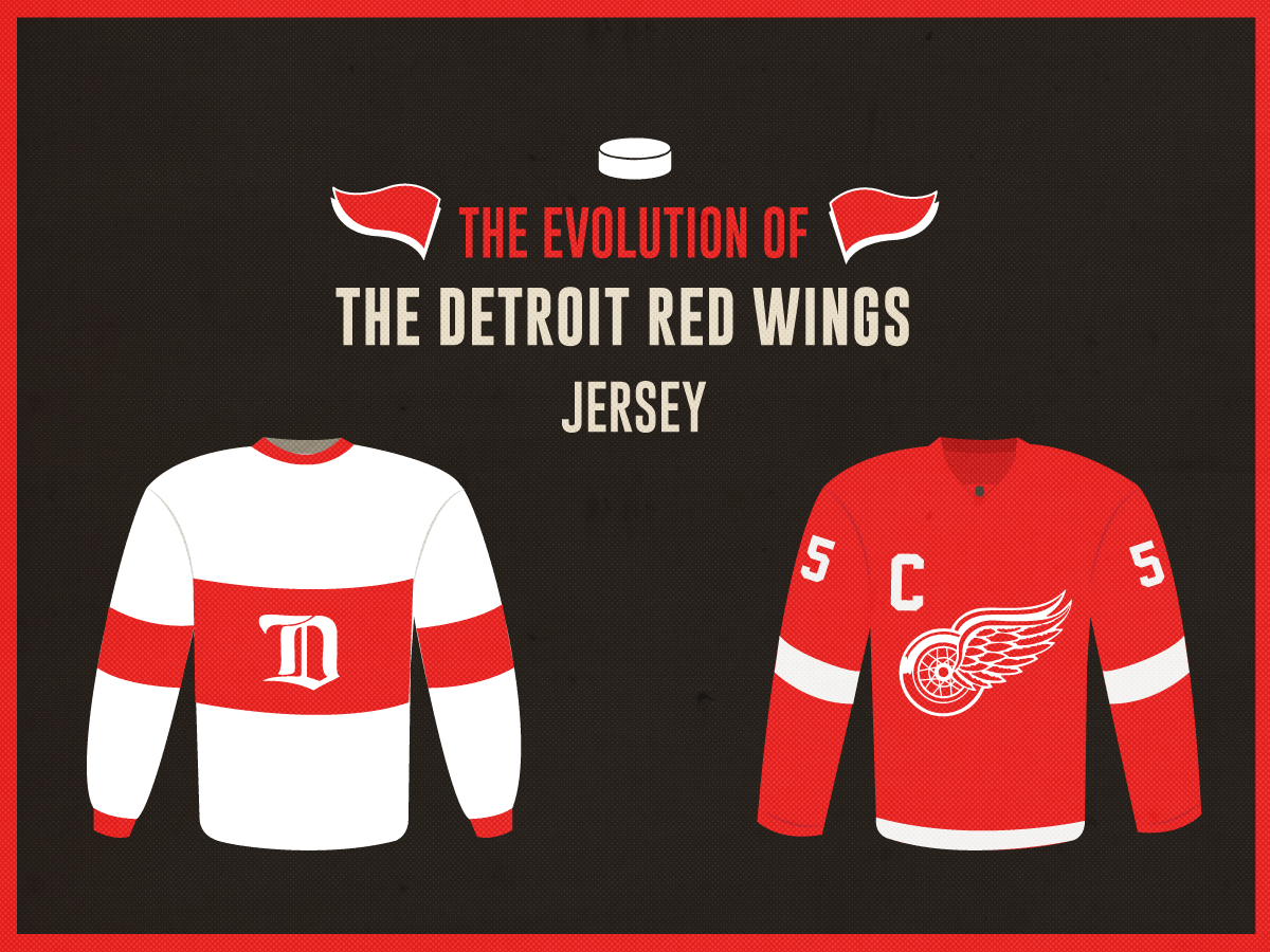timeless design 01878 591f5 The Evolution of the Detroit Red Wings Jersey