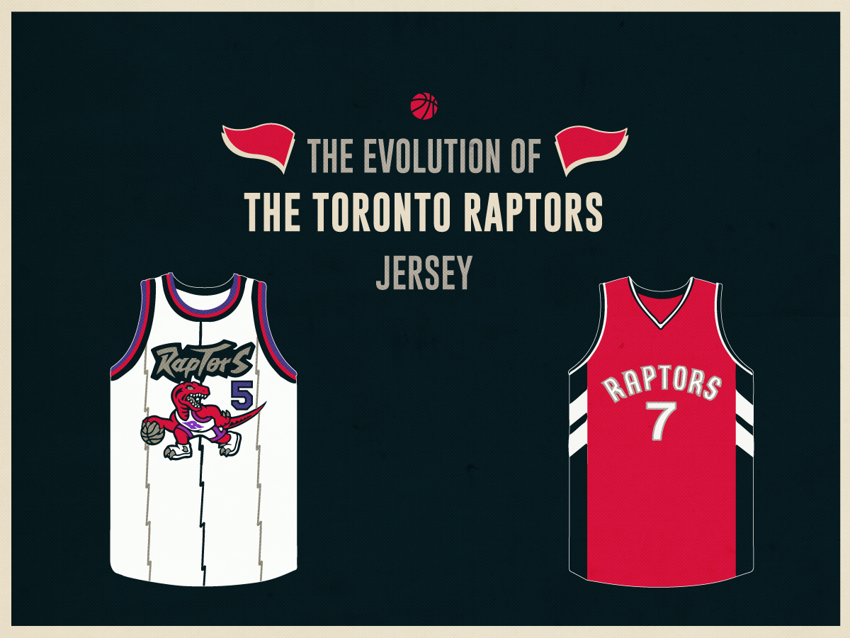 sale retailer a651f e630f The Evolution of the Toronto Raptors Jersey
