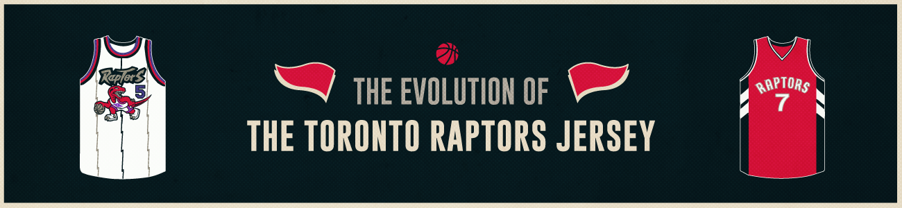 Toronto Raptors Jersey Evolution Header