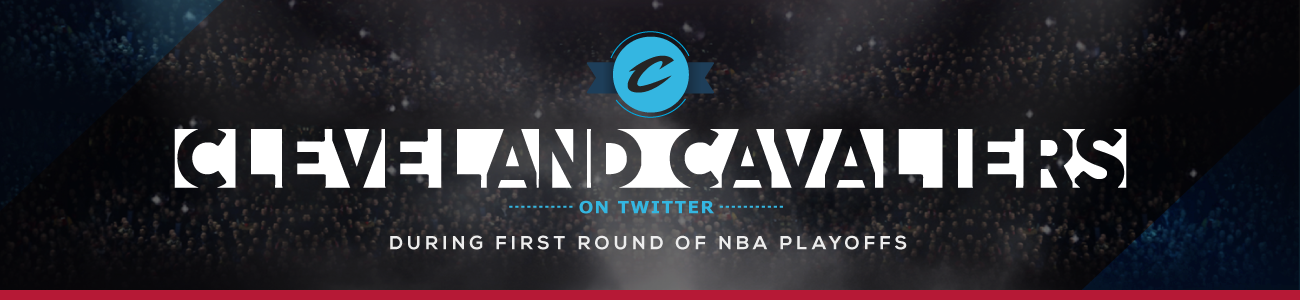 The Cleveland Cavaliers on Twitter during the first rounds of NBA playoffs