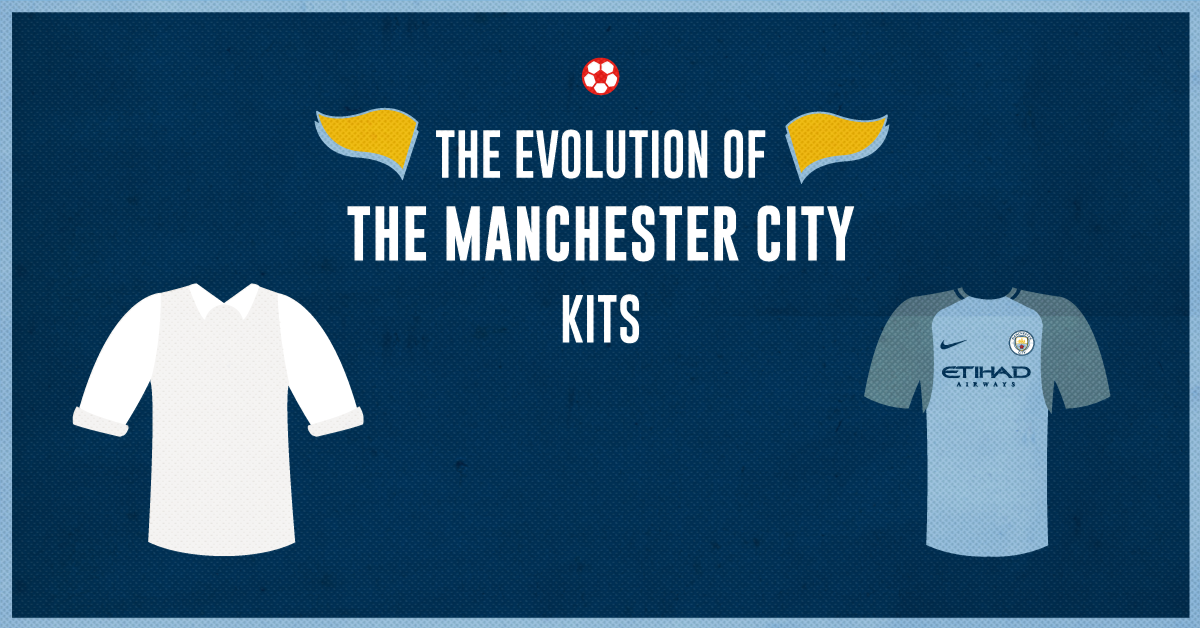 newest 18863 17cec The Evolution of the Manchester City Jersey