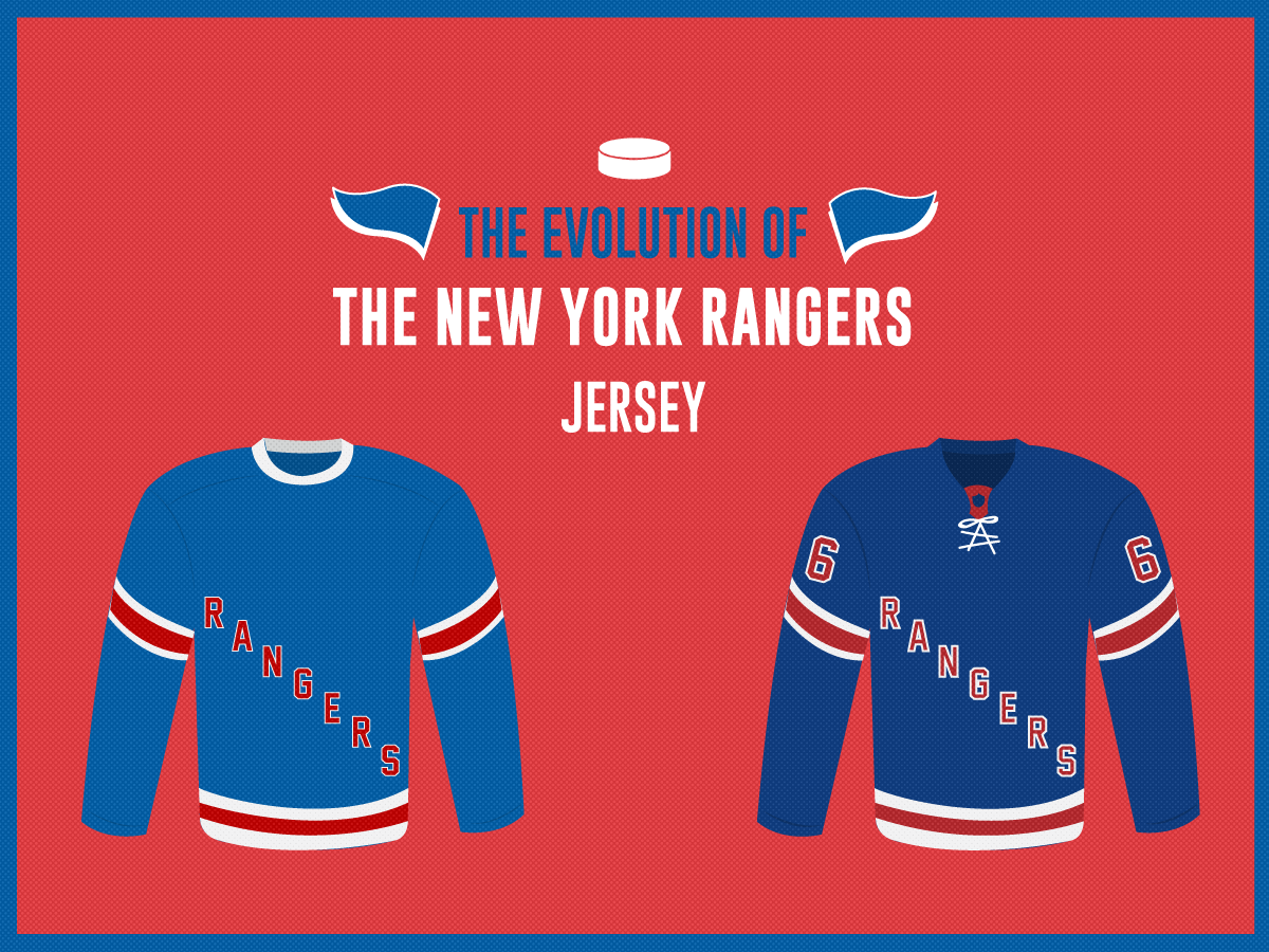 sale retailer 77298 a50fe The Evolution of the New York Rangers Jersey