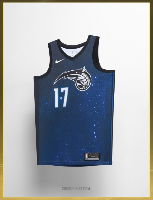c0d9c5d7fc9 The Orlando Magic s jerseys give the nod to the nearby Kennedy Space  Center. The Kennedy Space Center is home to breathtaking NASA artifacts and  also ...