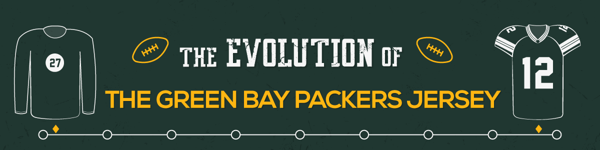 buy popular 8456d 0a575 The Evolution of the Green Bay Packers Jersey