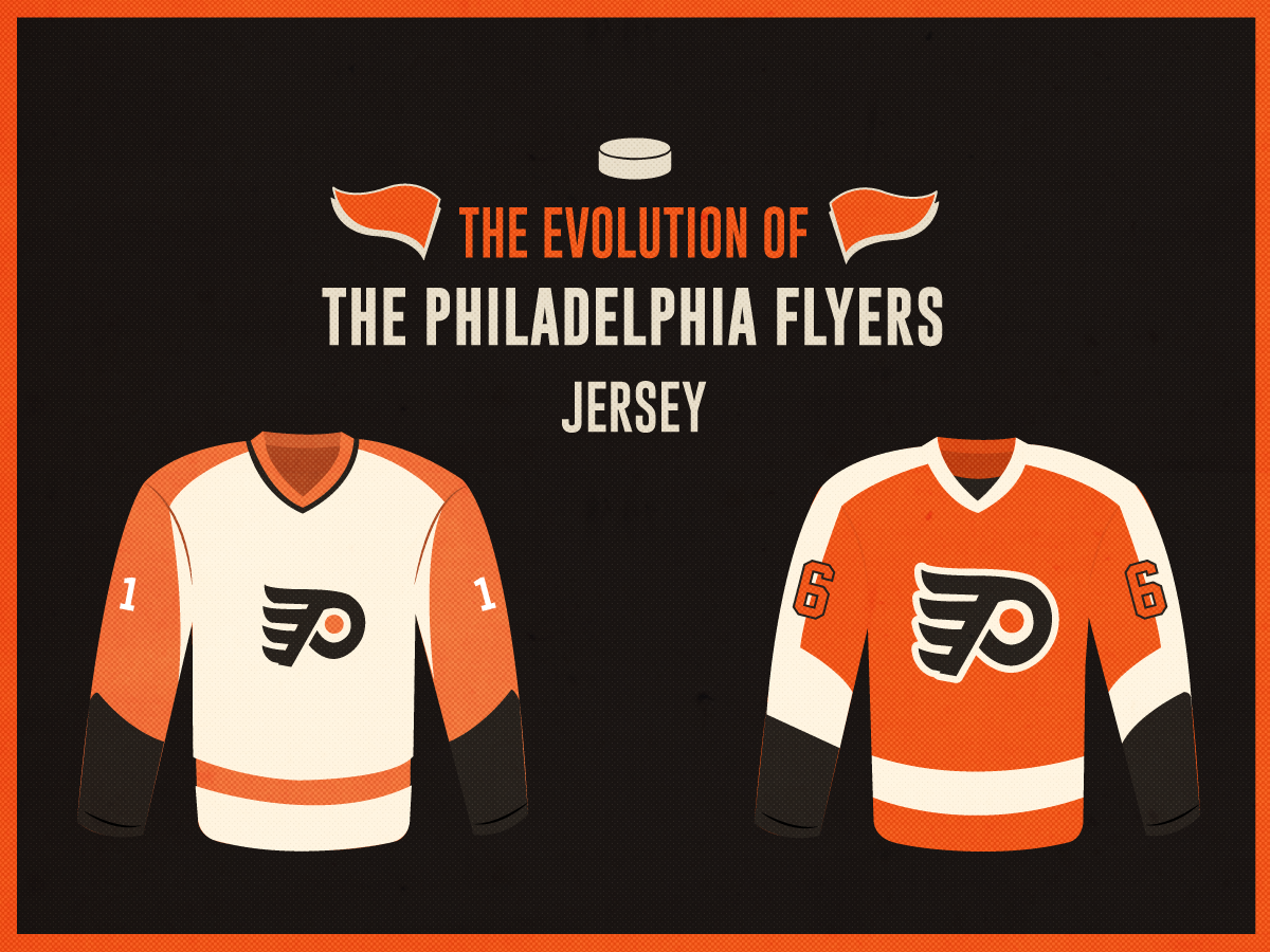 newest 0460a dc898 The Evolution of the Philadelphia Flyers Jersey