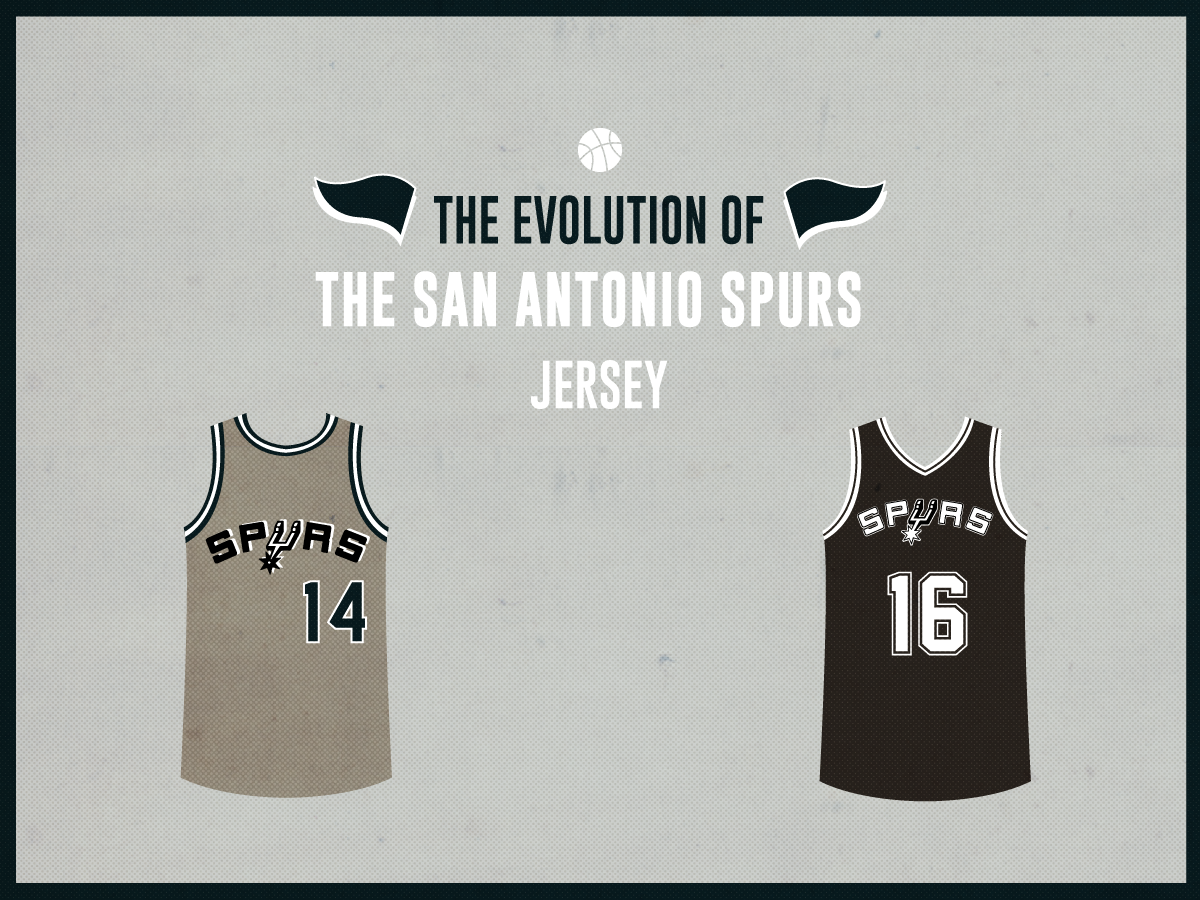 designer fashion 84e1d 3b3ab The Evolution of the San Antonio Spurs Jersey
