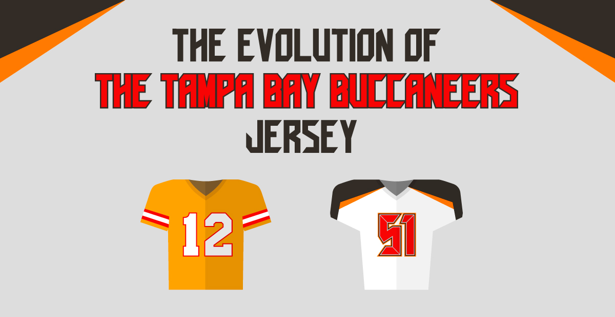 the evolution of the tampa bay buccaneers jersey fanatics
