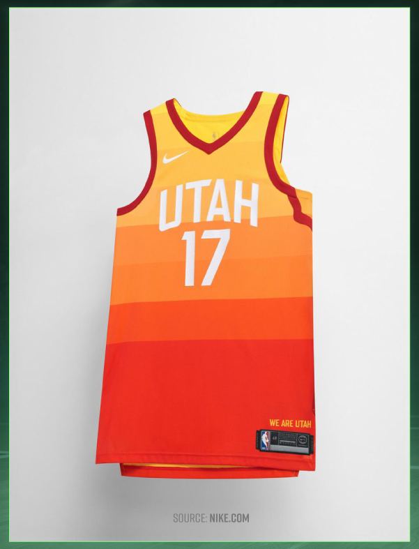 Utah s city jerseys feature strips of warm colors aaa1d5c35