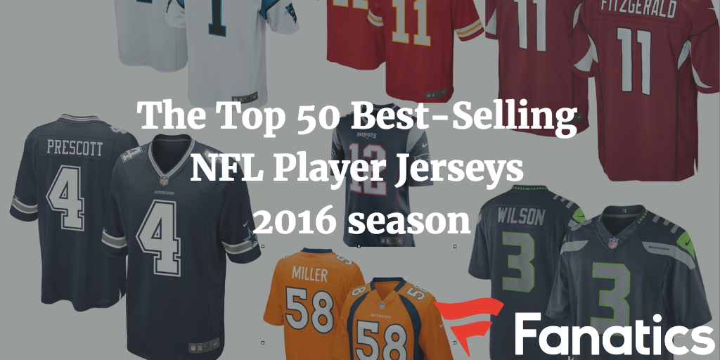 top selling nfl jerseys 2016