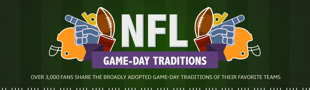 NFL Game Day Traditions - over 3000 fans share the broadly adopted game-day traditions of their favorite teams
