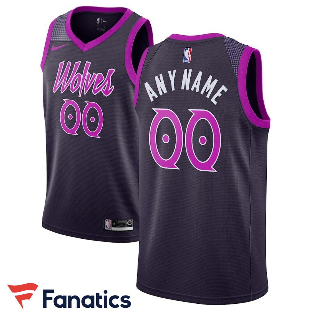 b23e26d06 Minnesota Timberwolves Nike 2018 19 Swingman Custom Jersey – City Edition –  Purple