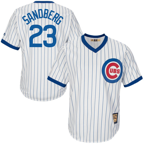 Cubs Jersey. Ryne Sandberg Chicago Cubs Majestic Cool Base Cooperstown  Collection ... b0328976b